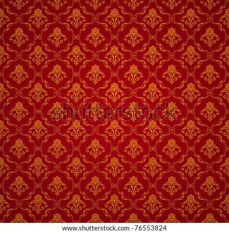 Red Seamless wallpaper pattern, bitmap copy