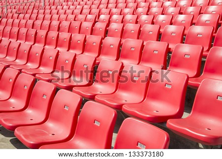 Red seat - stock photo