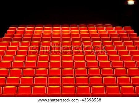Red seats rows