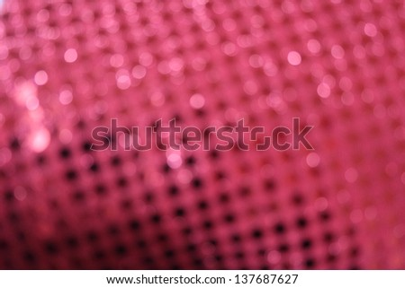 Red Sequin Background Blur