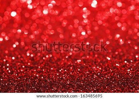 Red shiny glitter holiday beautiful background - Shutterstock ID 163485695