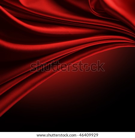 Red Silk Border over black