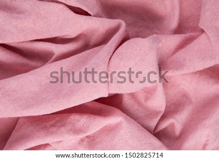Red silk fabric texture pattern. Background or texture