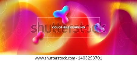 Red Silk Liquid color background design. Fluid gradient shapes composition. Futuristic design posters. Eps10 vector #1403253701