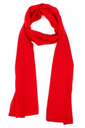 red silk scarf on a white background
