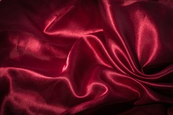 Red silk textile background for christmas decorate