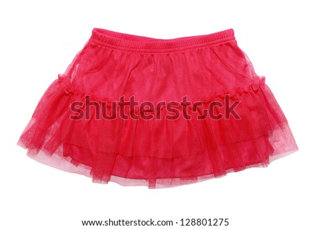red skirt for  girl, isolated on white background