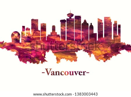 Red skyline of Vancouver, a bustling west coast seaport in British Columbia, among Canada's densest, most ethnically diverse cities