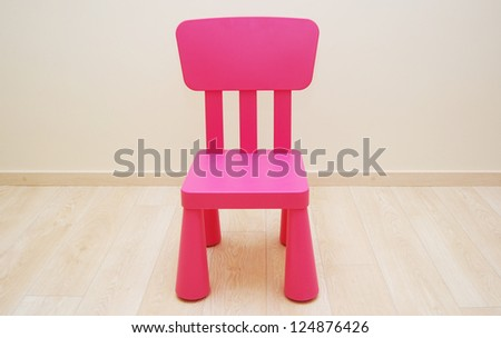 Red small chair for child