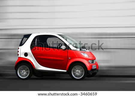 Red Smart City Car
