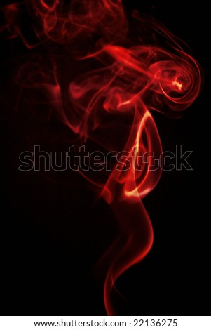 red smoke isolated on black