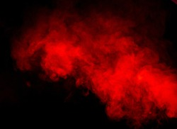 Red smoke on black