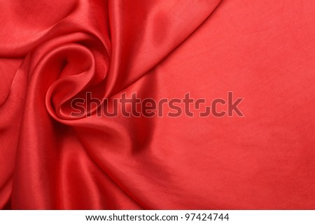 red smooth and elegant satin - stock photo