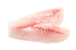 Red Snapper Fillets Isolated On White