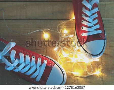 Red Sneakers Background #1278163057