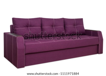 Red sofa isolated on a white background. Red sofa isolated on white include clipping path. #1111971884