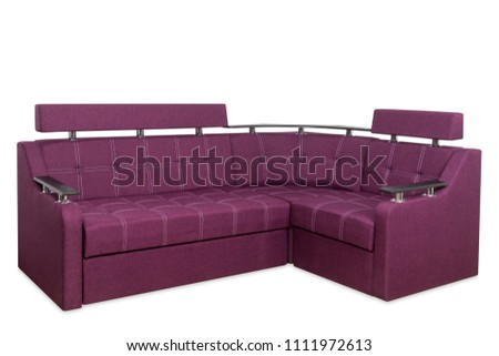 Red sofa isolated on a white background. Red sofa isolated on white include clipping path. #1111972613