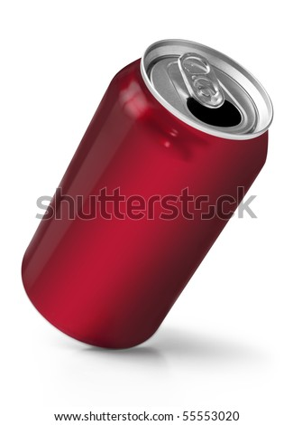 Red soft drink can