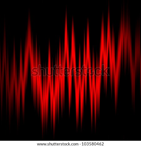 red sound waves texture