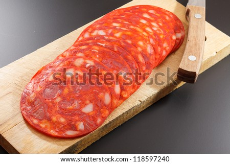 red spanish chorizo