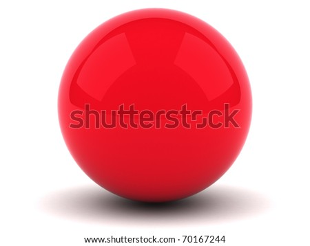 Red sphere - stock photo