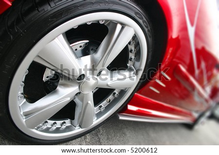 Red Sport Car Wheel
