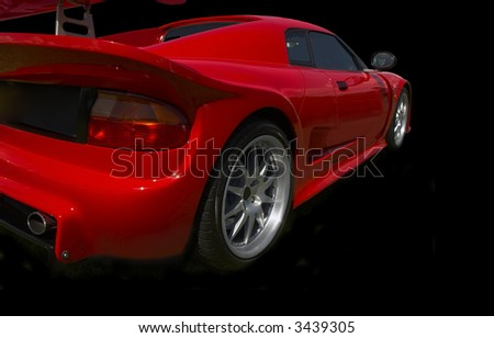 red sports car from rear