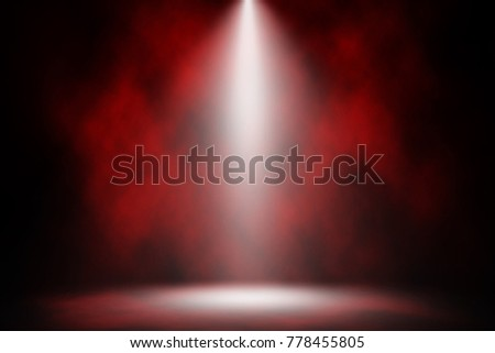 Red spotlight smoke stage entertainment background. #778455805
