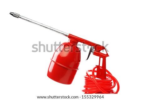 Red spray gun.