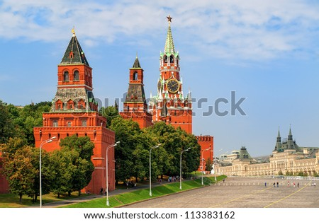 Red square and Kremlin towers, Moscow, Russia