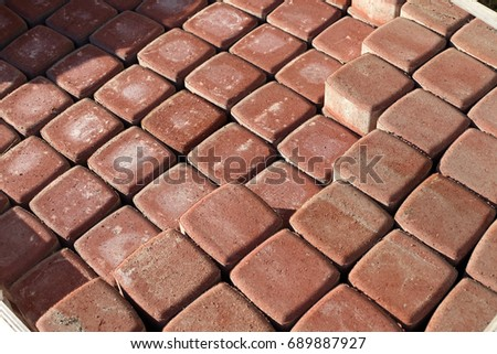 Red square paving slab #689887927
