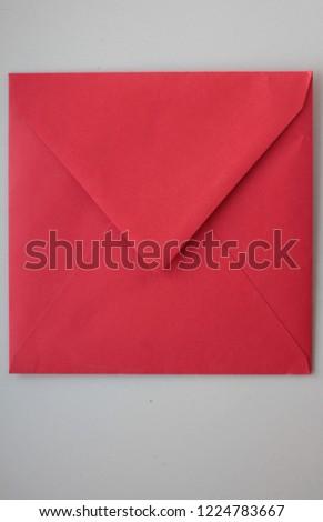 red square postal envelope on white background #1224783667