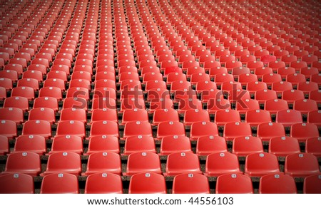 Red Stadium seats