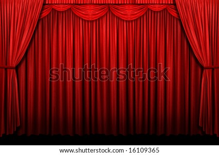 theater curtain clip art. stock photo : Red stage