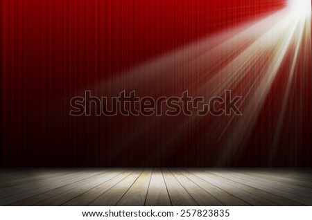 red stage light as background