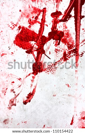 Red stains, abstract background image. texture of red paint splattered on white background.