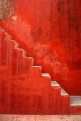 red stairs in jantar mantar india