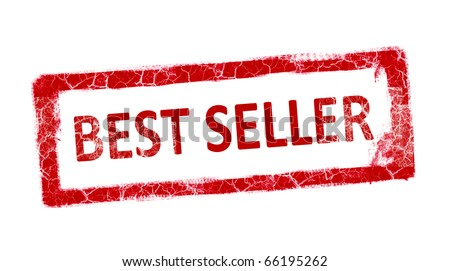 Red stamp best seller over white background