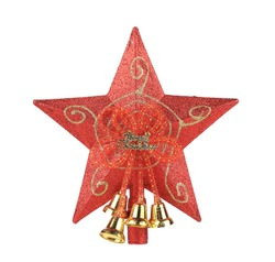 Red star christmas decoration. Isolated on a white background.