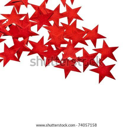 Red Stars  on a white background