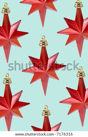 Red stars on light blue background