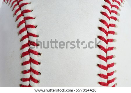 Red stitching baseball background