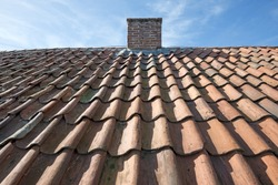 red stone tile roof