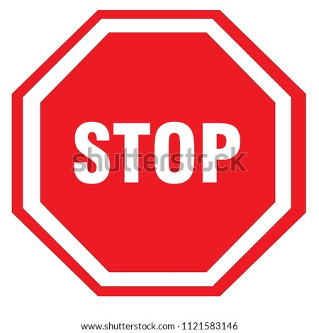 red stop sign #1121583146