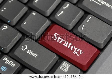 Red strategy key on keyboard