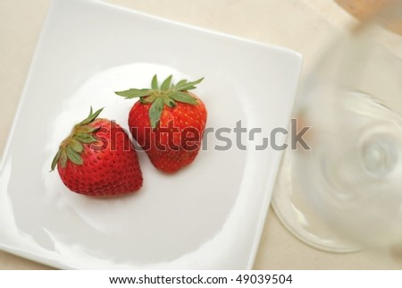 Red strawberries for a healthy lifestyle. Suitable for concepts like food and beverage, sweets and desserts, and diet and nutrition.