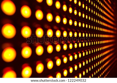 Red stretch of LED lights