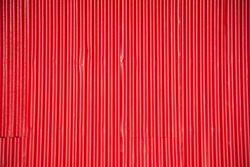 Red stripe galvanize plate or metal sheet wall abstract texture background