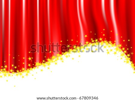 Red stripes and stars on a white background.