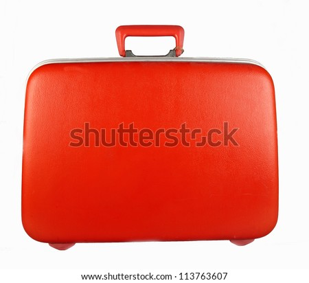red suitcase for travalling